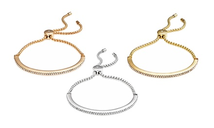 Pulseira Friendship com Swarovski Elements disponível em ouro branco, amarelo e rosa desde 14,99 € com envio gratuito