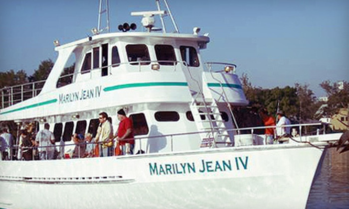 Fishing charter marilyn jean iv groupon for Marilyn jean fishing