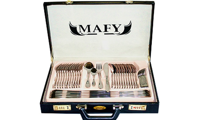 Groupon Goods: Mafy 84-Piece Stainless Steel Cutlery Set for R999.99 Including Delivery (56% Off)