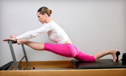 Three Pilates Reformer Sessions or 5 or 10 Vbarre Group Fitness Classes at The Posture Bar (Up to 54% Off)