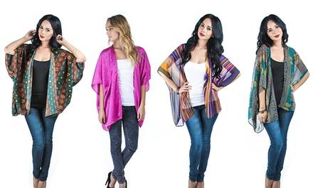 Women's Printed Kimono Top