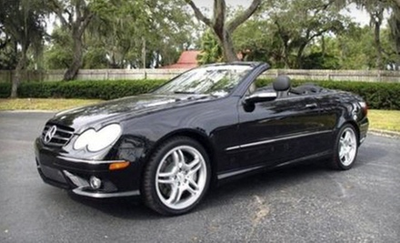 Mercedes-Benz Convertible or Cadillac Escalade Rental with Option for Special-Event Package from Enalux (Up to 67% Off)