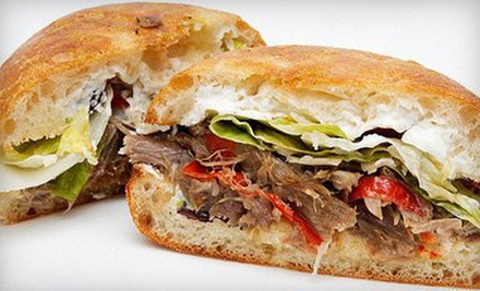 Catered Meal for 10 People or $8 for $16 Worth of Gourmet Sandwiches at Basil&#x27;s Sub