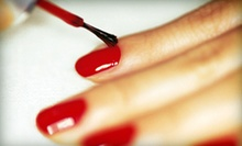 One or Two Royal Mani-Pedis at Top Hair-Nails (Up to 58% Off)