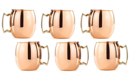 Old Dutch Set of 6 Copper Moscow Mule Shot Mugs. Free Returns.
