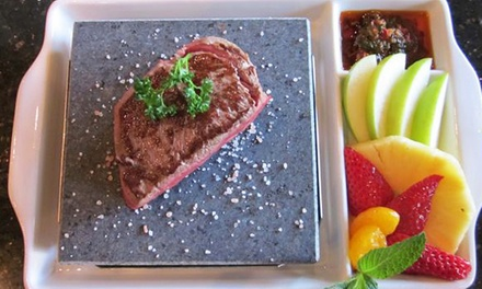 Lava-Rock Meal with Wine and Dessert for Two or Four at Cork N Brew Bistro (Up to 51% Off)