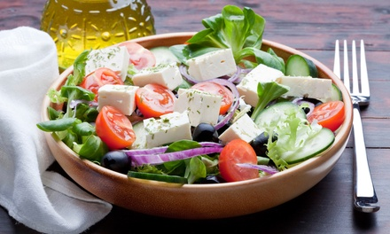 $25 for $50 Worth of Greek Food and Two Glasses of House Wine at Athena Mediterranean Cuisine ($62 Value)
