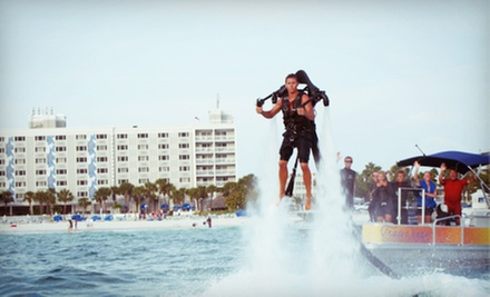 $195 for One Jetlev Water-Propelled-Jetpack Flight and Two Beach Passes at TradeWinds Island Grand Resort ($410 Value)
