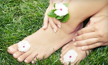 One or Three Shellac Mani-Pedis at Luminous Spa Studio (Up to 61% Off)