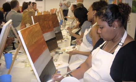 $25 for a Two-Hour BYOB Painting Class at Brush N Blush ($50 Value)