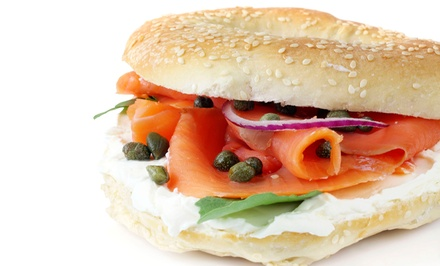 Bagel Sandwiches or Two Baker's-Dozen Bagels from Lox of Bagels (Up to 54% Off). Two Options Available.