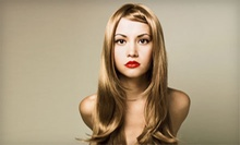 "Haircut with Deep-Conditioning Treatment and Optional Partial Highlights at The Hair Capitol ""Studio B"" (Up to 58% Off)"