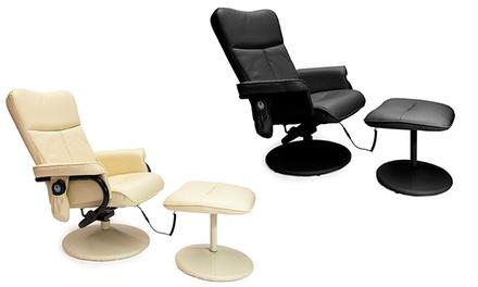 Poltrona de massagem com repousa-pé disponível em duas cores por 199€
