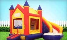 $125 for 10-Hour Bounce House and Slide Combo Rental from Bouncin Bins (Up to $256 Value)