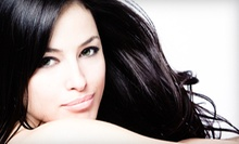 Haircut, Shampoo and Style with Optional Partial or Full Highlights at Infinite Tan & Spa (Up to 59% Off)