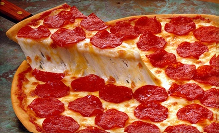 Pizza, Salad, and Soda for Two or Four at Big Guy's Café and Grill (Up to 52% Off)