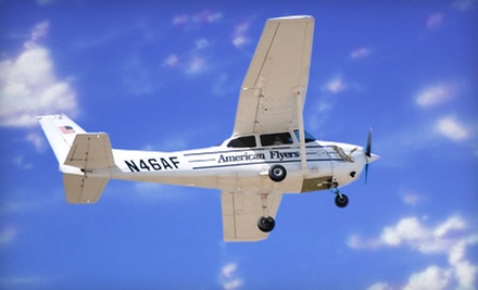 $149 for a Two-Hour Introductory Flight Lesson at American Flyers ($395 Value)