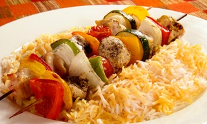 Afghan Cuisine For Two Or Four At Afghan Kabob Fusion - Choopan Grill (47% Off). Four Options Available.