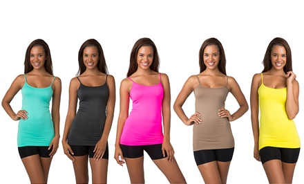 Multi-Color Love, All-Natural, or Blazing Spring Women's Seamless Shaping Camisoles (10-Pack)
