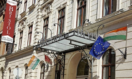 The Three Corners Hotel Bristol 4* — Budapeste: 1-4 noites para dois em quarto deluxe com pequeno-almoço desde 47€
