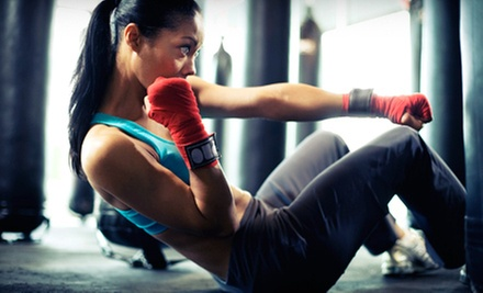 10, 20, or 30 Kickboxing or Karate Classes and a Pair of Boxing Gloves at Moo Sa Black Belt Academy (Up to 90% Off)