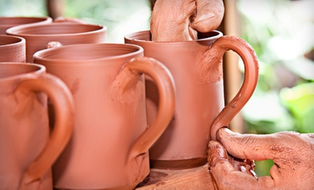 $35 for a Dinner-Set Class for Two at Not Made in China Pottery Studio ($75 Value)