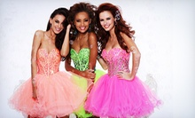 Designer Prom Dresses at Bianca's Prom &amp; Pageant (Half Off). Three Options Available.