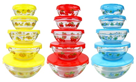 5-Piece Glass Nesting Bowls