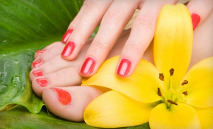 One or Three Mani-Pedis or Gel Manicures at Flirt Nail Lounge (Up to 54% Off)
