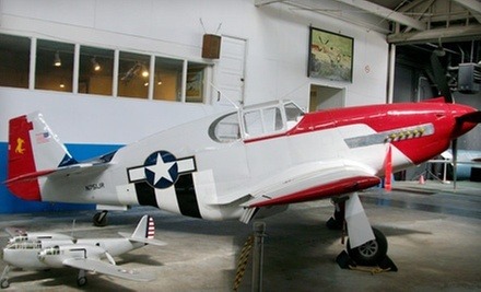 Two or Four Adult Tickets or One-Year Family Membership to Oakland Aviation Museum (Half Off)