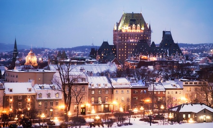groupon daily deal - 2-Night Stay for Two with Daily Continental Breakfast and Drinks at Le Manoir d'Auteuil in Quebec City, QC