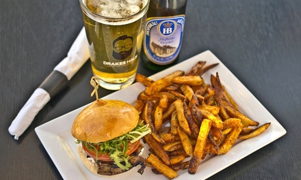 Sliders and Beers for Two or Four at Drakes Haus (Up to 45% Off)