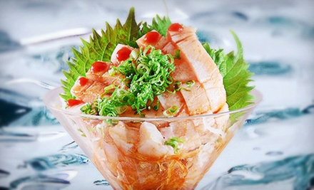 $25 for $50 Worth of Upscale Japanese Cuisine at Naan Sushi Japanese Restaurant