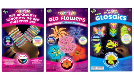 Color Glo Flowers, Mosaic, or BFF Bracelets Craft Book