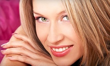 Haircut and Style with Optional Color or Highlights/Lowlights at GS Hair (Up to 64% Off). Three Options Available.