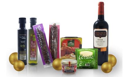 Cesto de vinhos ou de vinhos e outros produtos espanhóis desde 34,95€