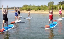 Standup-Paddleboard Yoga Class for One, Two, or Three from Float On Yoga (Up to 54% Off)