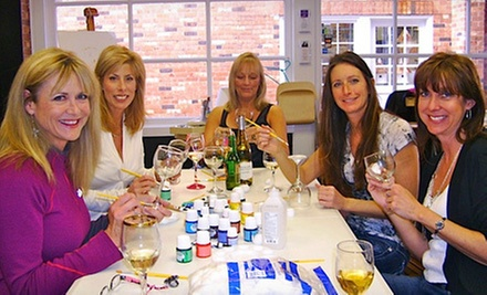 Wineglass-Painting Class for One or Two at Art Classes by Jen (Up to 56% Off)