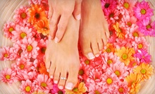 One or Two Mani-Pedis with Sugar Scrubs from T.J. at Carolina Designs Salon (Up to 51% Off)