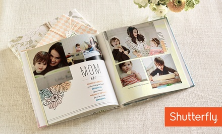 8x8, 8x11, 10x10, or 12x12 Custom Photo Book from Shutterfly (Up to 70% Off)