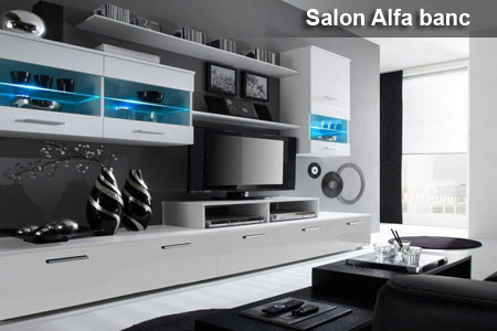 Meuble de salon complet groupon shopping for Meuble de salon noir et blanc