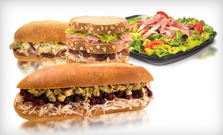 Sandwiches and Salads from the Regular or Catering Menu at Capriotti's Sandwich Shop (Half Off)
