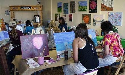 BYOB Art Class for Two or Four at Art Bayou (Up to 44% Off)