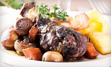 $59 for a Four-Course French Dinner for Two at Le Sanglier French Restaurant ($140 Value)