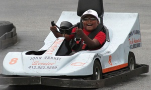 Go-karts With Optional Rounds Of Mini Golf At The Go-kart Track (up To 58% Off). Four Options Available.
