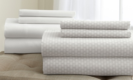 Haight-Ashbury Collection 8-Piece Printed and Solid Sheets Set; Full to California King Sizes from $39.99–$44.99