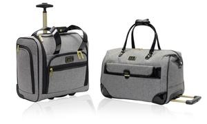 Nicole Miller Jolene Under-seat Wheeled Carry-on Or Wheeled Duffle Bag