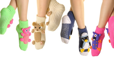 3-Pack of Angelina 3D Winter Knitted Socks