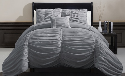 Embellished 4-Piece Comforter Sets. Multiple Sizes and Colors Available. Free Returns.