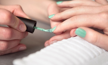 $49 for a Gel Manicure and Express Pedicure at Accolades Salon Spa ($105 Value)